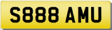 SAM S U Private Cherished Number Plate SAM SAMANTHA SAMI SAMSON SAMMY SAMUEL